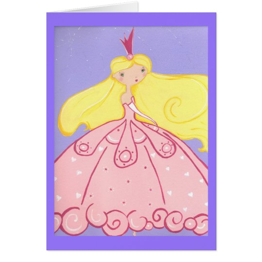 Princess Birthday Wishes Card