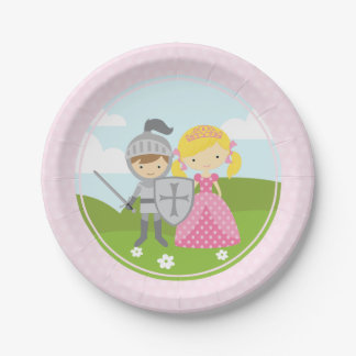 Princess blond and Knight party plates