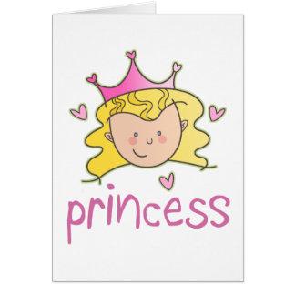 Princess Blonde Greeting Card
