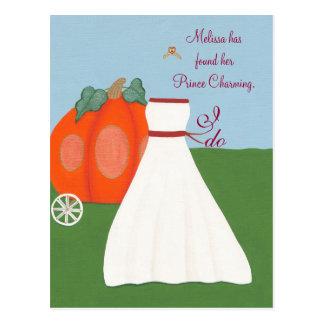 Princess Bridal Shower Invitations Postcards