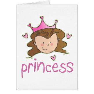 Princess Brunette Greeting Card
