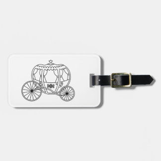 Princess Carriage, Black Coach. Luggage Tag