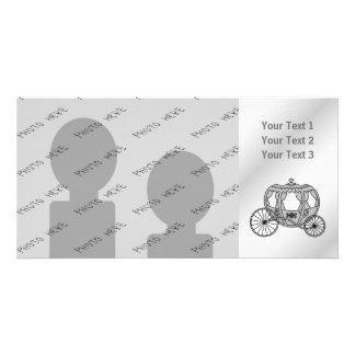 Princess Carriage in Gray Photo Card Template