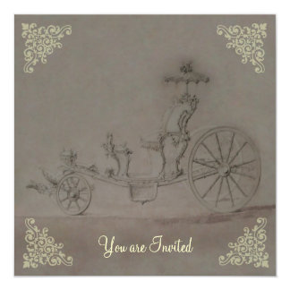 Princess Carriage ~  Invitations