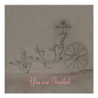 Princess Carriage Invitations