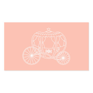 Princess Carriage on Coral Pink Color. Pack Of Standard Business Cards