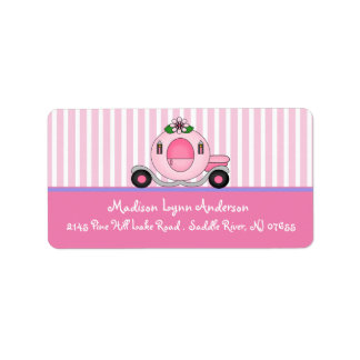 Princess Carriage Return Address Labels. Label