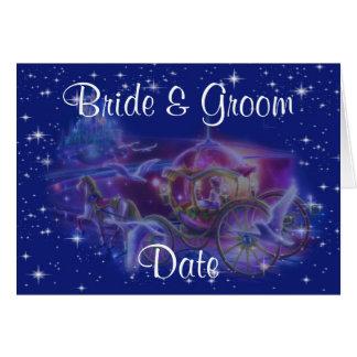 Princess Carriage Theme Wedding Invitations Greeting Cards