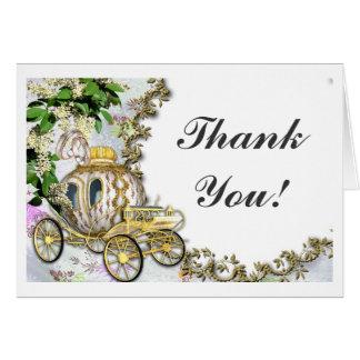 Princess Carriage wedding Thank You notecards Card