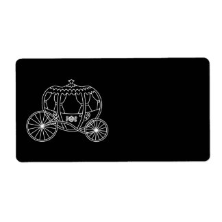 Princess Carriage, White on Black.