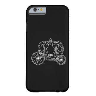Princess Carriage, White on Black. Barely There iPhone 6 Case