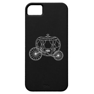 Princess Carriage, White on Black. iPhone 5 Case