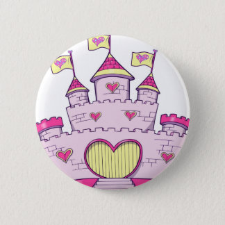 Princess castle 6 cm round badge