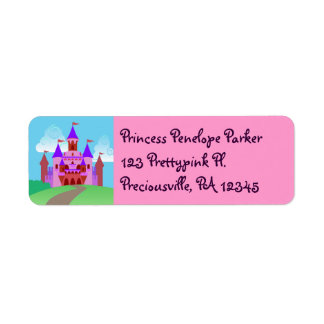 Princess Castle Address Labels