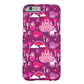 princess castle and unicorn rainbow barely there iPhone 6 case