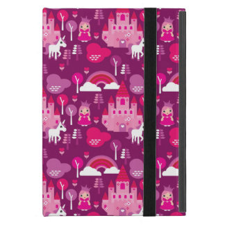 princess castle and unicorn rainbow iPad mini case
