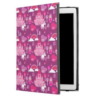 "princess castle and unicorn rainbow iPad pro 12.9"" case"