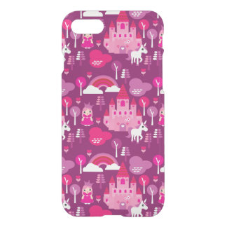 princess castle and unicorn rainbow iPhone 8/7 case