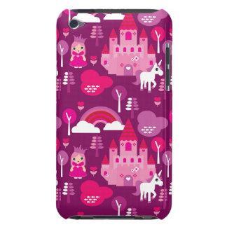 princess castle and unicorn rainbow iPod Case-Mate case