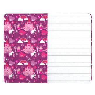 princess castle and unicorn rainbow journal