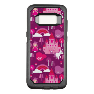 princess castle and unicorn rainbow OtterBox commuter samsung galaxy s8 case