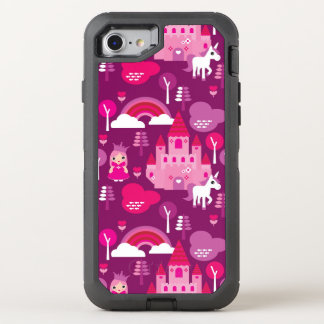 princess castle and unicorn rainbow OtterBox defender iPhone 8/7 case