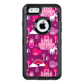 princess castle and unicorn rainbow OtterBox defender iPhone case
