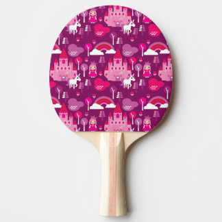 princess castle and unicorn rainbow ping pong paddle