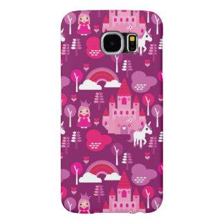 princess castle and unicorn rainbow samsung galaxy s6 cases