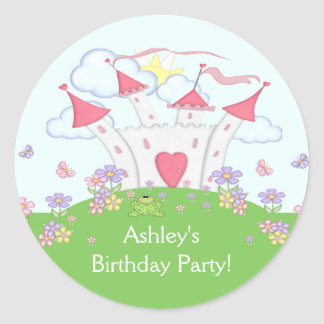 Princess Castle Birthday Party Sticker