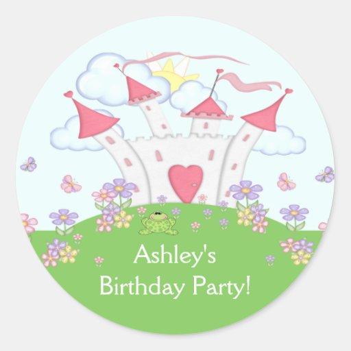 Princess Castle Birthday Party Sticker