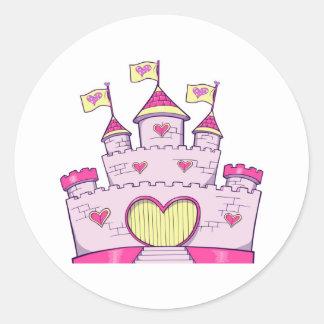 Princess castle classic round sticker