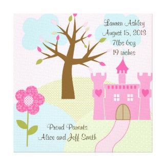 Princess/Castle/Dreams 16x16 Stretched Canvas Art Canvas Print