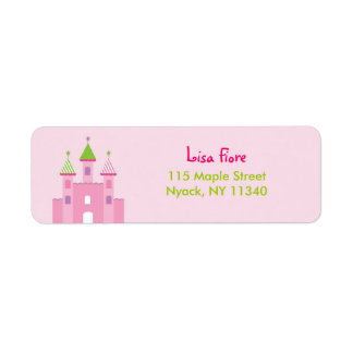 Princess Castle Fairy Tale Address Labels
