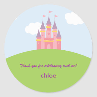Princess Castle Favor Sticker or Envelope Seal