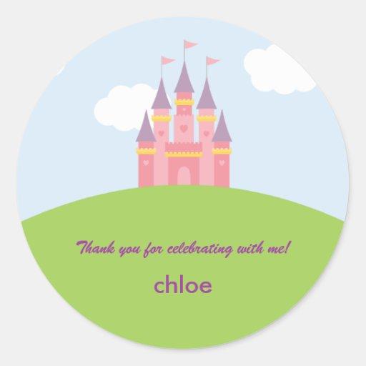 Princess Castle Favor Sticker or Envelope Seal Stickers