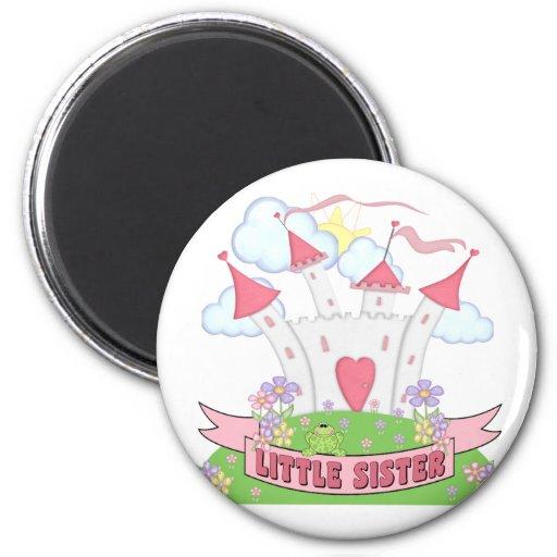 Princess Castle Little Sister Fridge Magnets