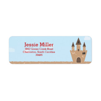 Princess Castle Return Address Label