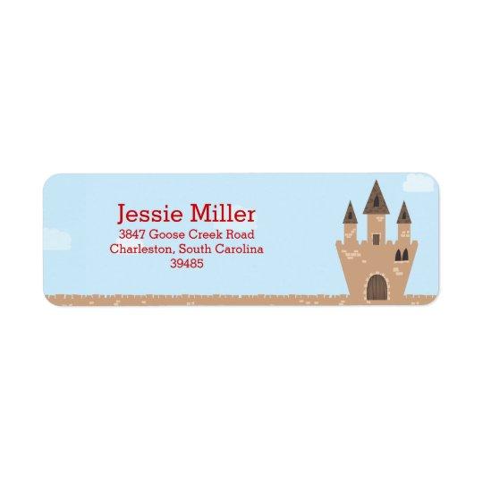 Princess Castle Return Address Label