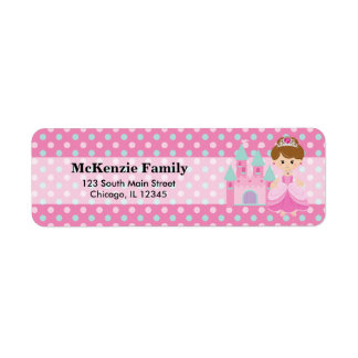 Princess & Castle Return Address Label