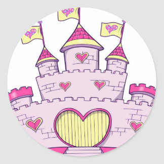Princess castle round sticker