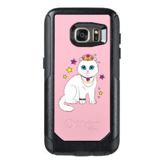 Princess Cat with Stars and Tiara OtterBox Samsung Galaxy S7 Case