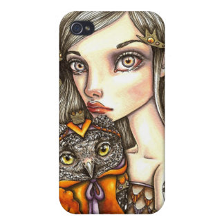 Princess Celine and Her Majesty the Owl iPhone 4 Cover