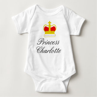 Princess Charlotte and crown Baby Bodysuit