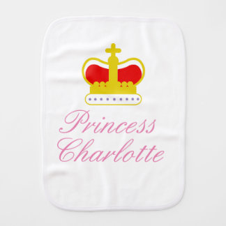 Princess Charlotte burp cloth