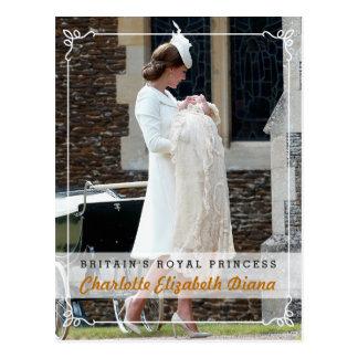 Princess Charlotte Elizabeth Diana - Christening Postcard