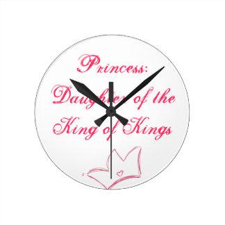 Princess Round Wallclock