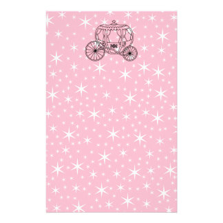 Princess Coach Design in Black and Pink. Stationery