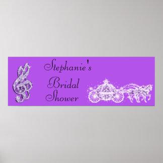Princess Coach & Horses Bridal Shower Poster