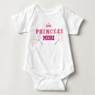 Princess Crawler Outfit Front & Back Designed T Shirts